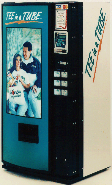 Tee-In-A-Tube Vending